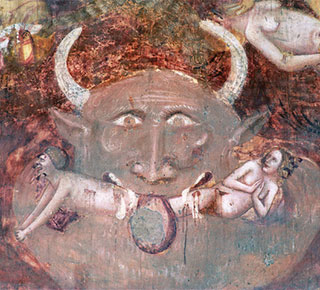 Древнее изображение диавола