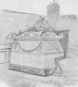 Надгробие над могилой преп. Серафима